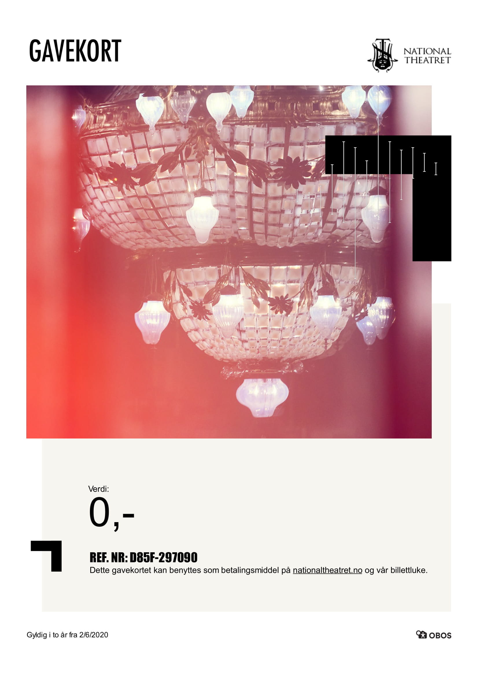 Preview image of a giftcard with chandelier.th chand